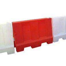 Pack (2) 1 metre Evo Road Traffic Safety Barriers, one Red, one White