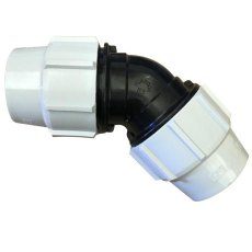 63 mm MDPE Elbow Connector, 90 degrees