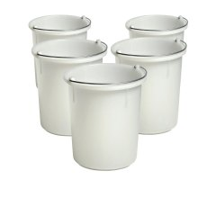 30 Litre Heavy Duty Bucket with Steel Handle, Pack of 5