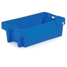 25kg / 40 Litre Euro Fish Boxes, Pack of 20, Blue