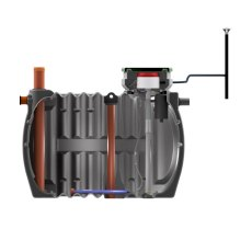 Solido Smart 6 person Pumped Sewage Treatment Plant