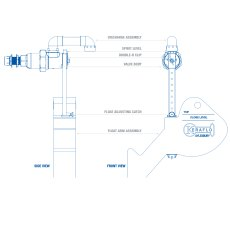 1 1/4' Aylesbury Keraflo K Type SF, Delayed Action Float Valve, 32mm