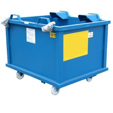 Auto Dumping Steel Container on Castors, ADC10C