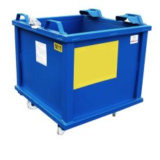 Auto Dumping Steel Container on Castors, ADC5C