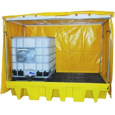2 IBC Covered Spill Pallet Bund