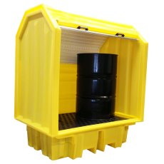 2 Drum Lockable Bunded Pallet with Hard Cover