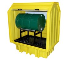 Lockable Bunded Pallet with Drum Cradle