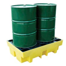 2 Drum Spill Pallet, Recycled Polythene