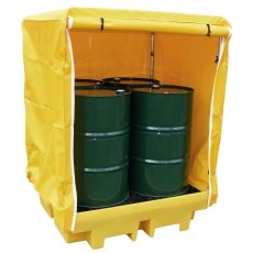 4 Drum Covered Spill Pallet Bund