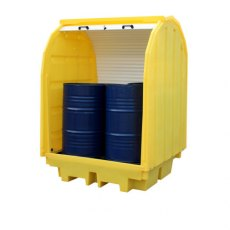 4 Drum Lockable Bunded Pallet with Hard Cover