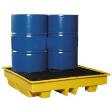 4 Drum Spill Pallet, Low Profile