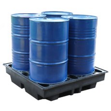 4 Drum Spill Pallet Recycled, Low Profile
