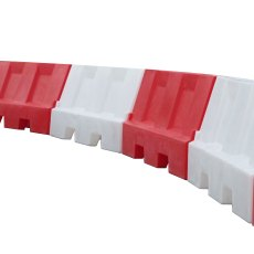 Pack (2) Evo Road Traffic Safety Barriers 1.5 Metre, one Red, one White