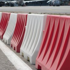 Pack (2) 1.6 Metre Red and White Road Safety Barriers