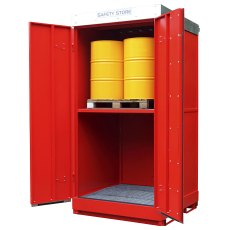 8 Drum Steel Storage Unit