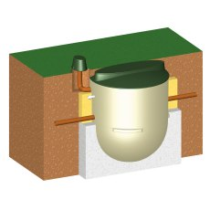 Clearwater 6 Person Sewage Treatment System, Gravity Discharge