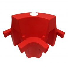 EVO corner section for Evo 1m and 1.5m Safety Barriers, Red