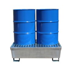 Galvanised Steel 2 Drum Spill Pallet