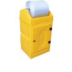 Dispensing Roll Stand Storage Unit with Lockable Door
