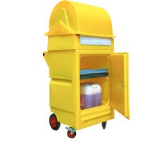 Dispensing Roll Mobile Cabinet with Lockable Door