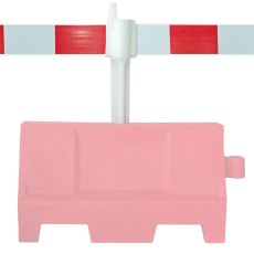 EVO 1 Metre Corner Post and reflective panel for Safety Barrier