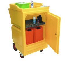 Portable Workstation with Lockable Door
