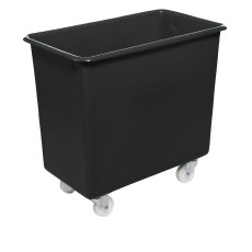 200 Litre Plastic Container / Trolley / Truck - Recycled Black
