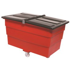 350 Litre Split Lid Plastic Container / Trolley / Truck with lid