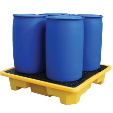 4 Drum Stackable Spill Pallet