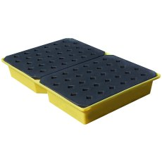 Spill drip tray with grate, 104 Litre