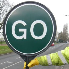 Stop and Go Traffic Control Sign
