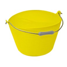 22 Litre Tuff Bucket, Yellow