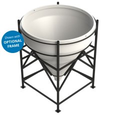Enduramaxx 2000 Litre Cone Tank Open Top with 60° base