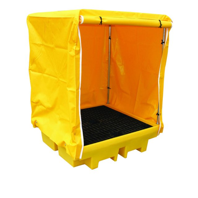 Empteezy 4 Drum Covered Spill Pallet Bund