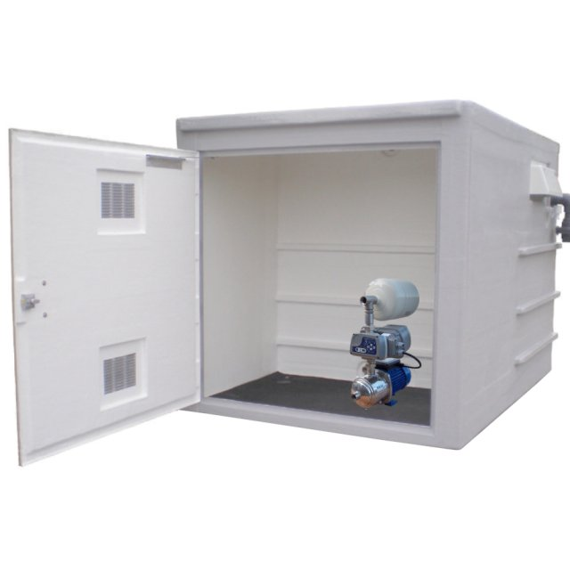 1000 Litre GRP Enclosure with built in tank and 80L/min single pump