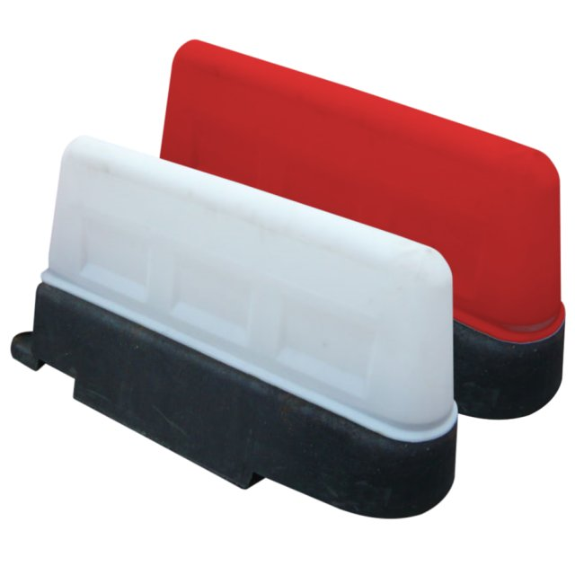 Oaklands Plastics Pack (2) Mirus Self Weighted Barriers, one Red and one White