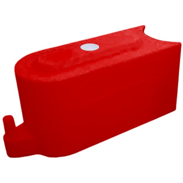 Oaklands Plastics Track Road and Site Barrier -RB1000, Red