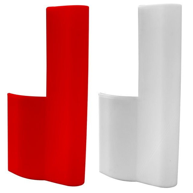 Oaklands Plastics Pack (2) Heavy Duty Road Barrier End Stops - Red and White